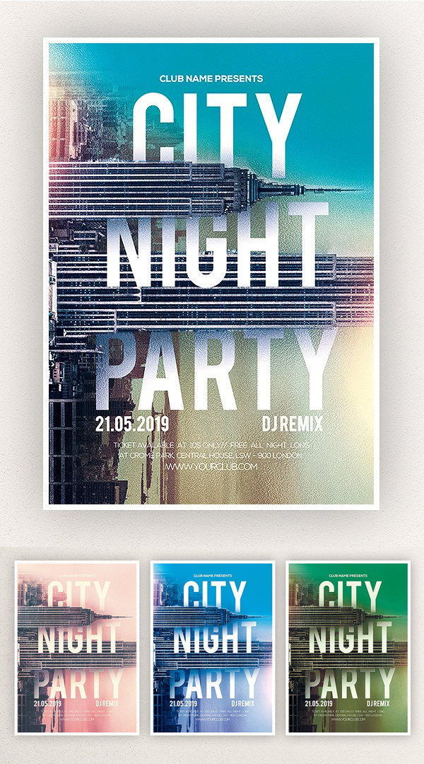 City Dream Party Flyer