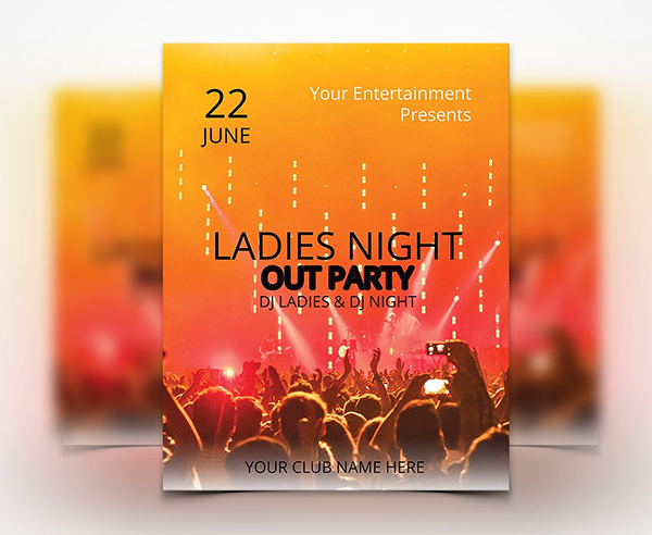 Ladies Night Party - Flyer