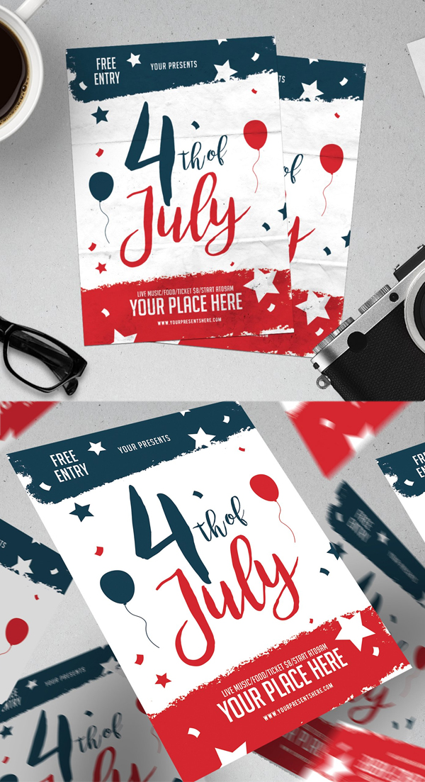 4 Of July Party Flyer