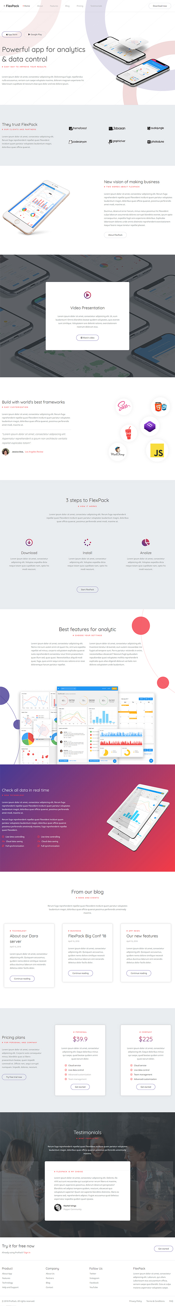 FlexPack - App & Software Responsive HTML Template