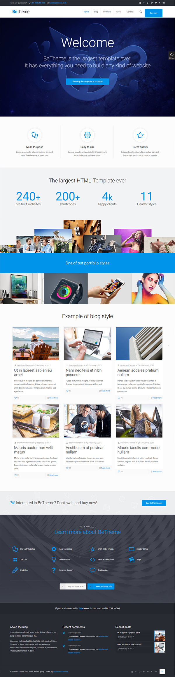 BeTheme - HTML Responsive Multi-Purpose Template