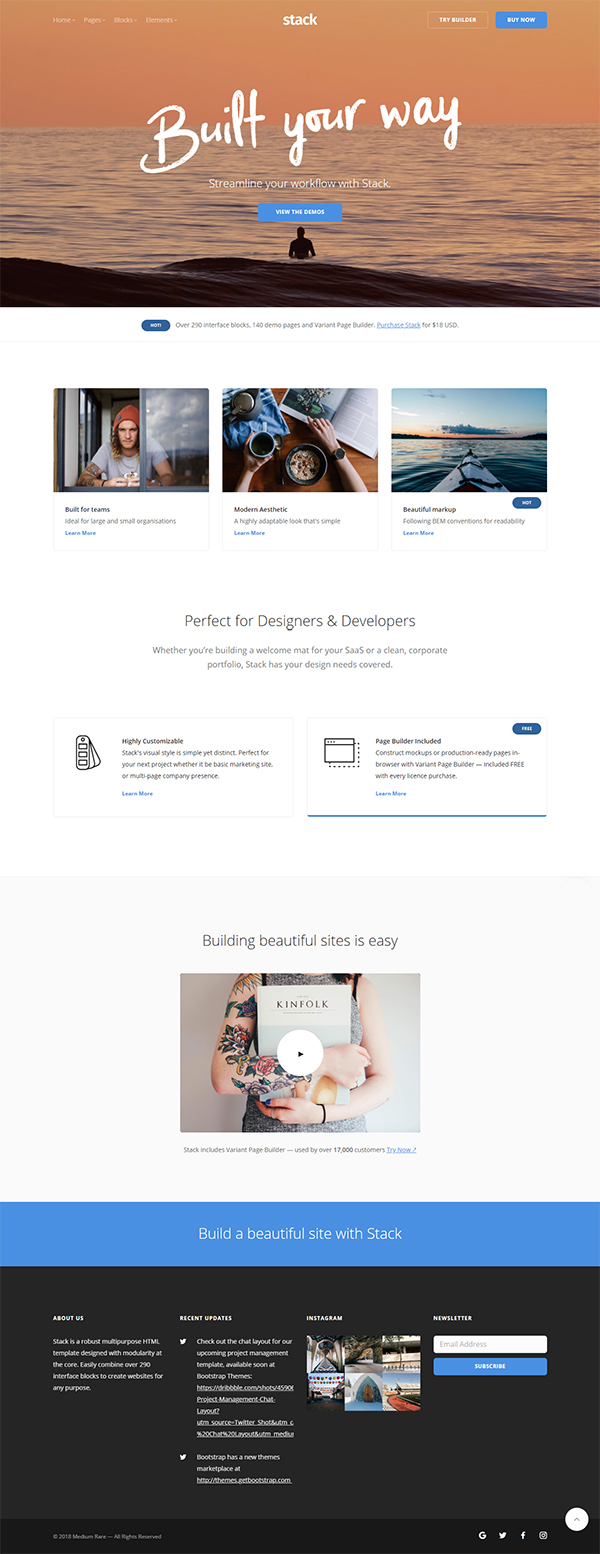 Stack Multi-Purpose HTML with Page Builder