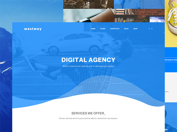 Westwey - Creative Agency PSD Freebie