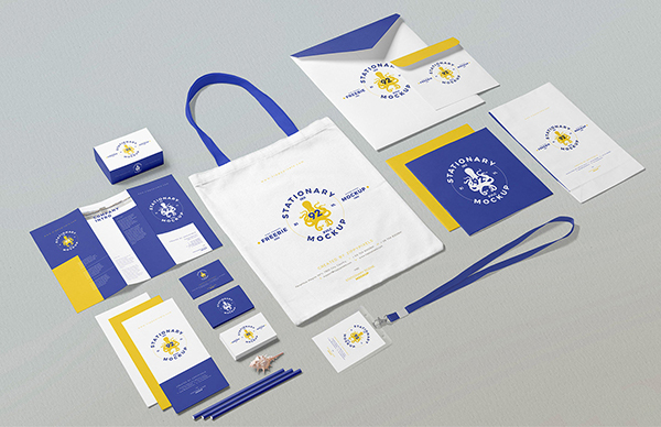 Business Stationery Mockup Scene