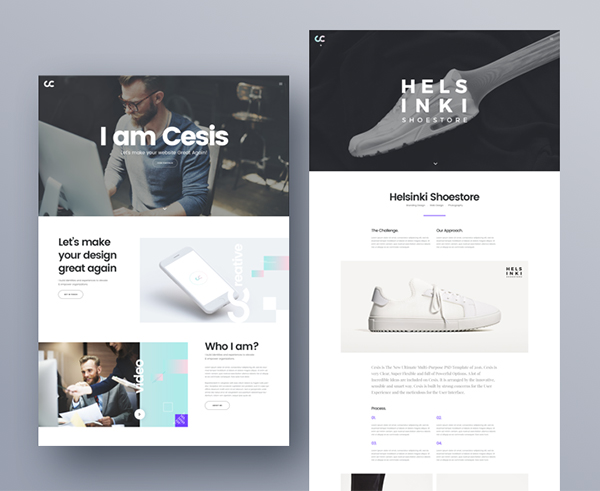 Cesis Creative Agency PSD Template