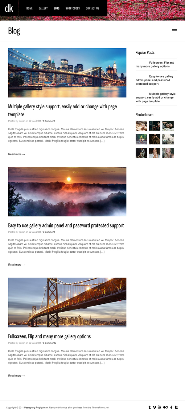 Photography WordPress | DK for Photography