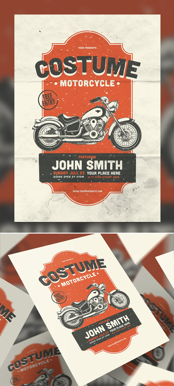 Costume Motorcycle Flyer