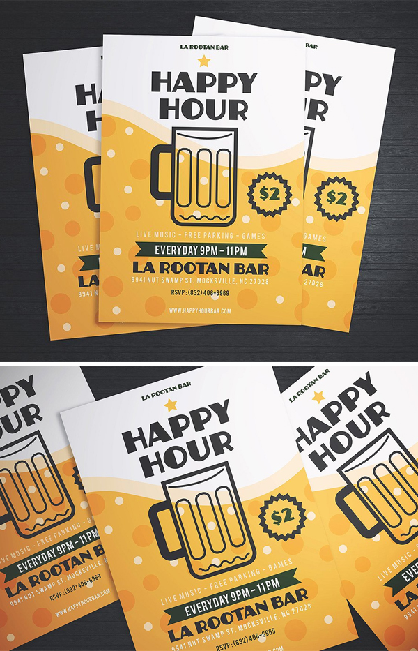 Simple Happy Hour Beer Flyer