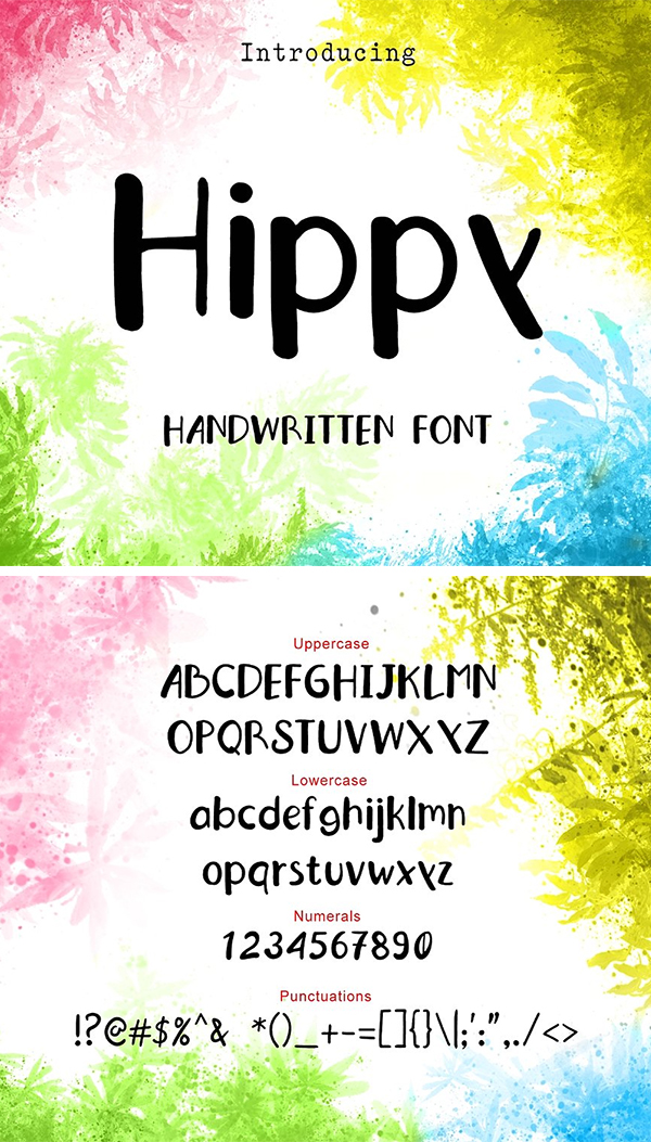 Hippy Hand Drawn Font