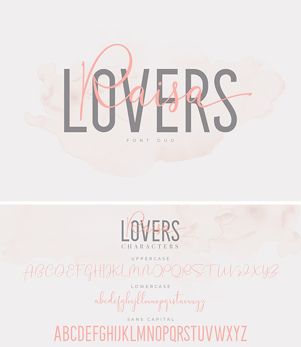 Raisa Lovers Font Duo