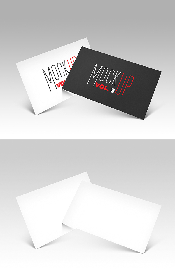 Awesome Business card PSD Mockup Free Download