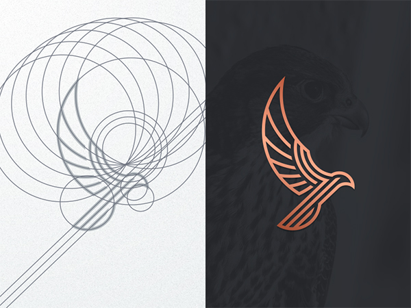 Luxury Falcon Logo Design