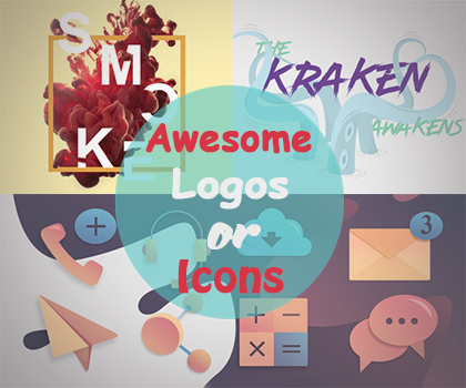 Awesome Icons Or Stylish Logo Designs