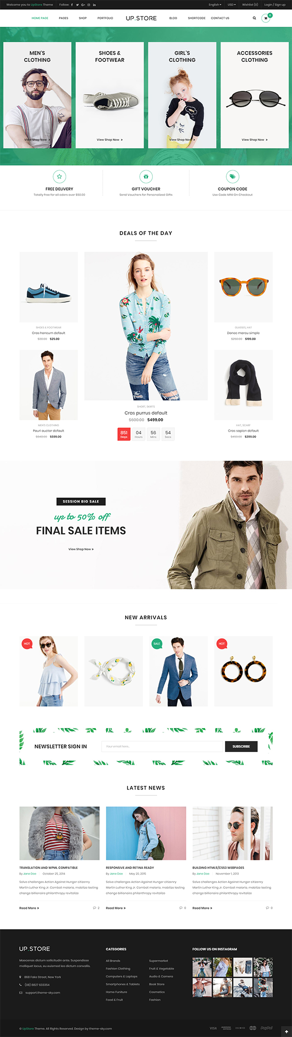 UpStore – Responsive Multi-Purpose WordPress Theme