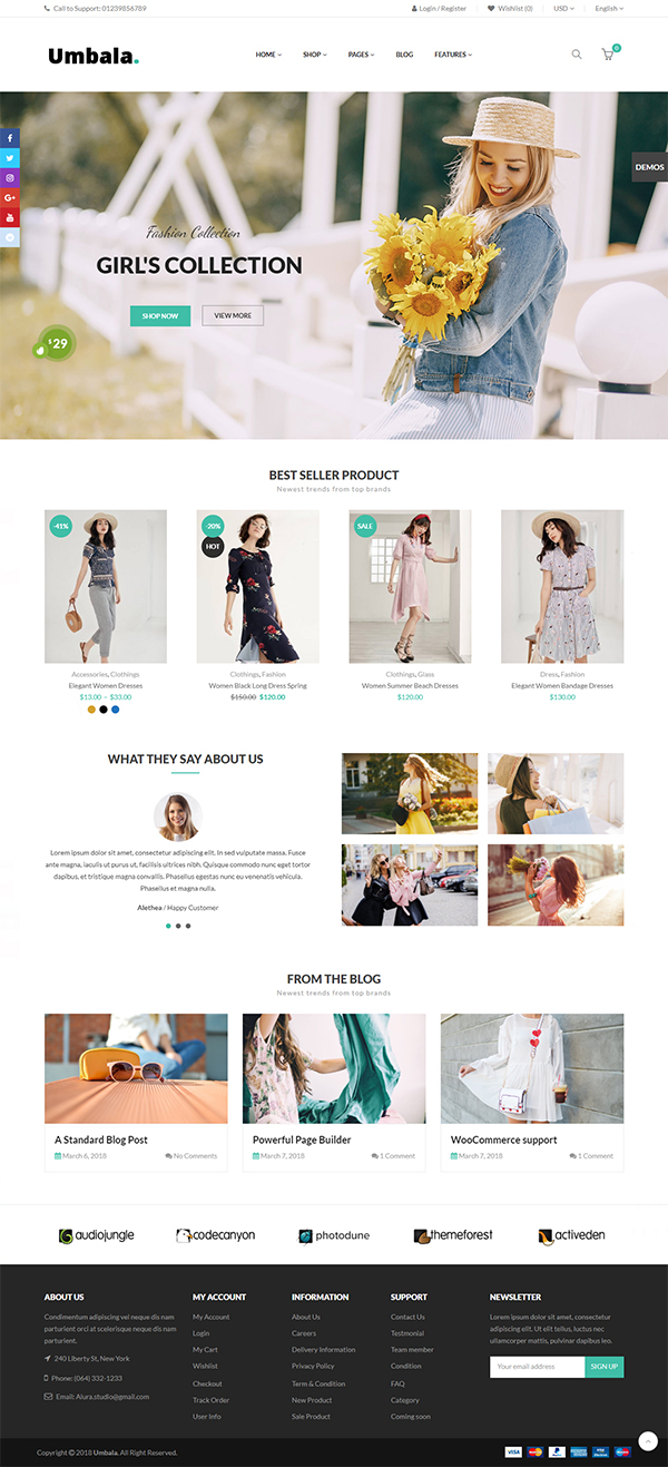 Umbala – Responsive WooCommerce WordPress Theme