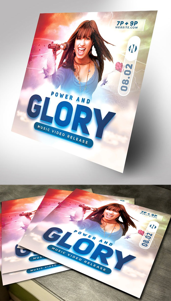 Power and Glory Gospel Concert Flyer