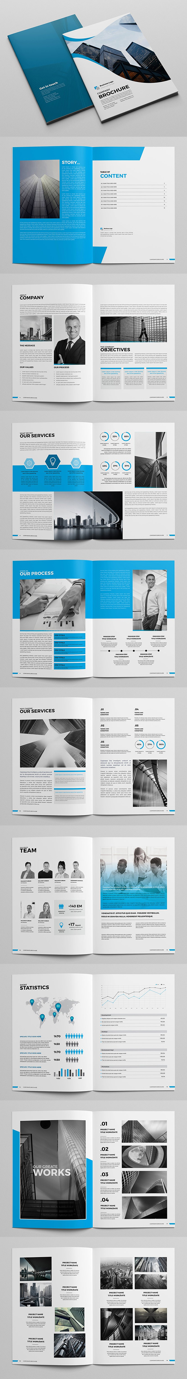 Blue Business Brochure