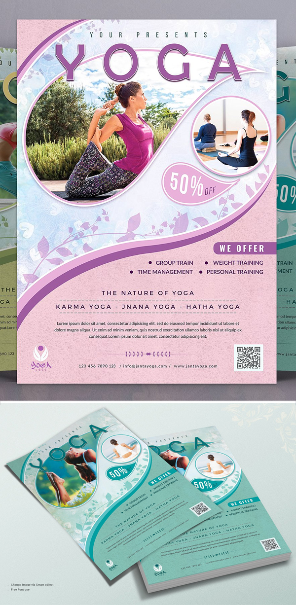 Fitness & Yoga Flyer