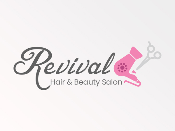 Girls Salon Logo Concept