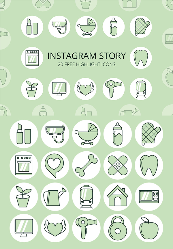 Instagram Story Highlight Free Icons