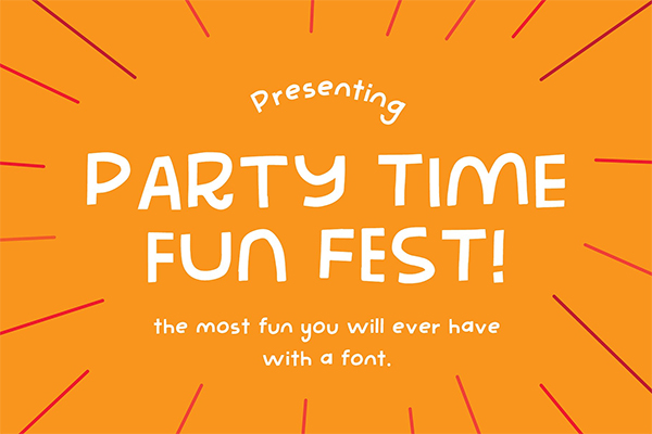 Party Time Fun Fest - The best font