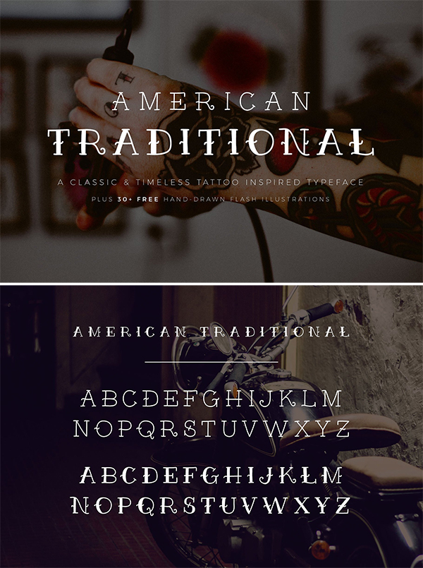 American Traditional + Free Flash
