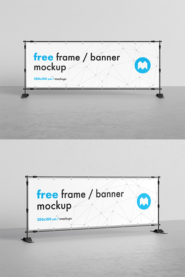 Creative Advertising Banner Frame Mockup Free Download (PSD)