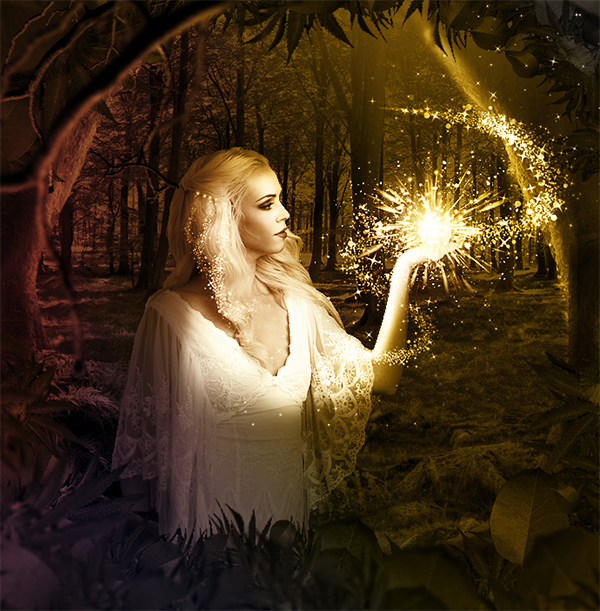 Create A Fairy With Sparkle Dust Trail In Photoshop