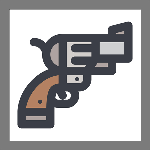 Adobe Illustrator Tutorial – How to create a Revolver Icon