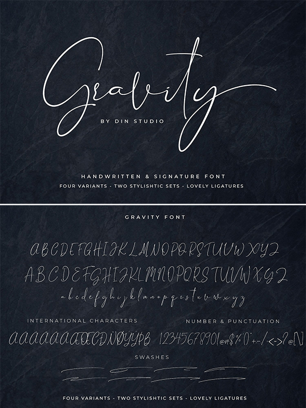 Gravity – Handwritten and Signature