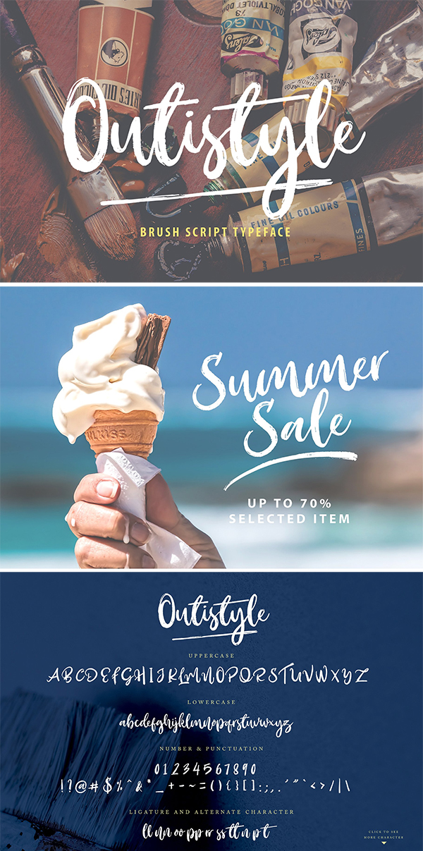 Outistyle Brush Font