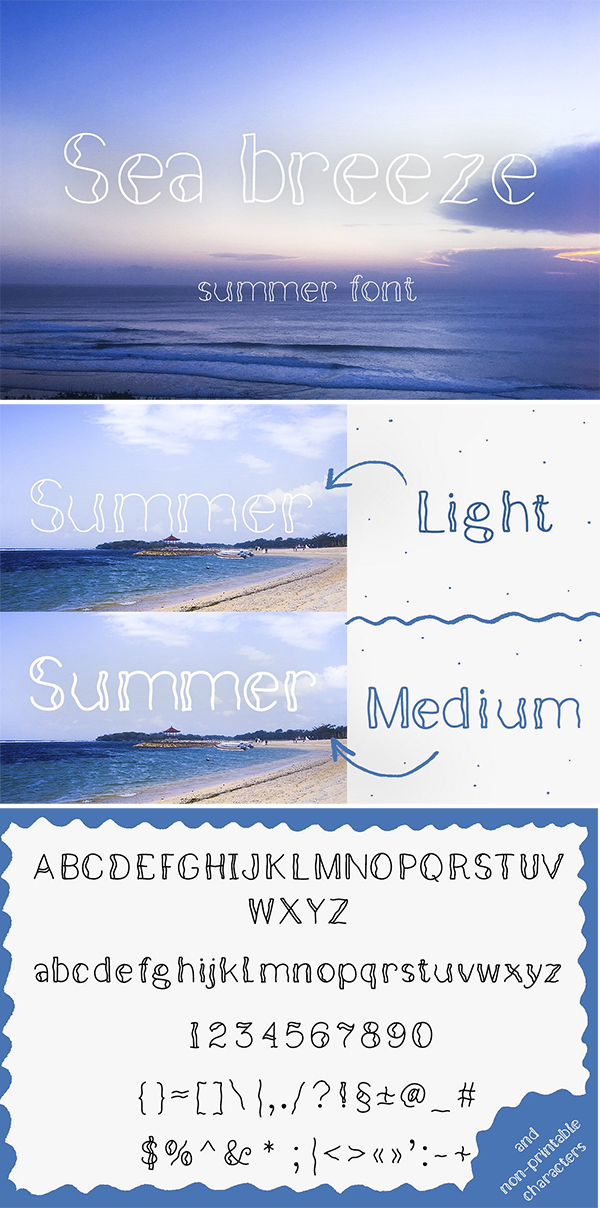 Sea Breeze Summer Font