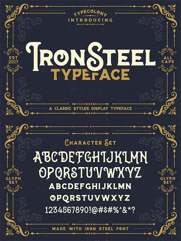 Ironsteel Display Font