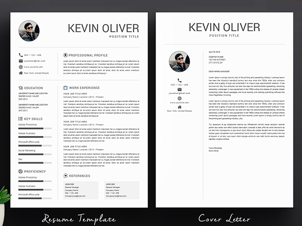 One Page Modern Resume Template