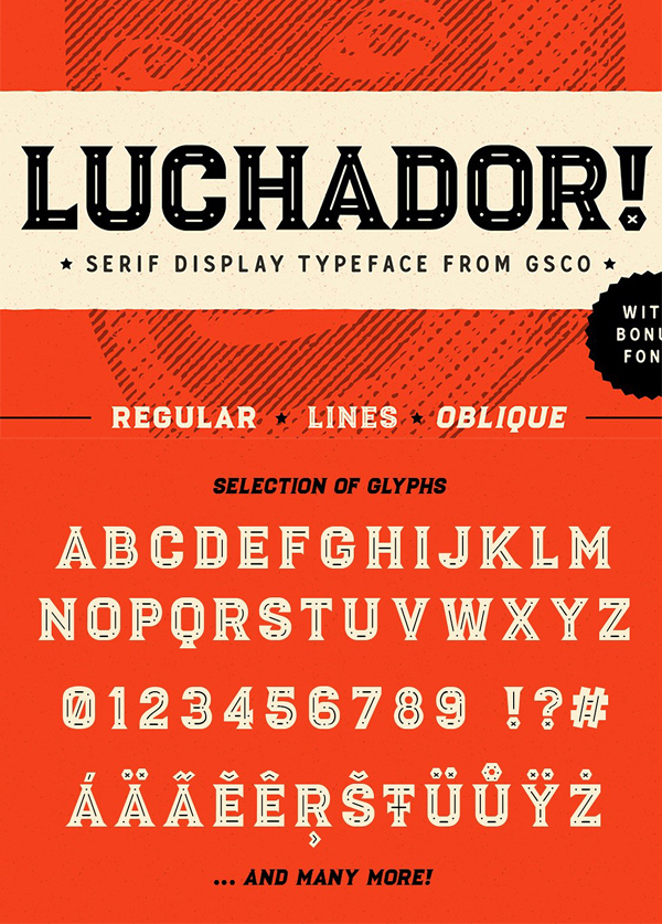 Luchador - Serif display typeface ( FREE Download )
