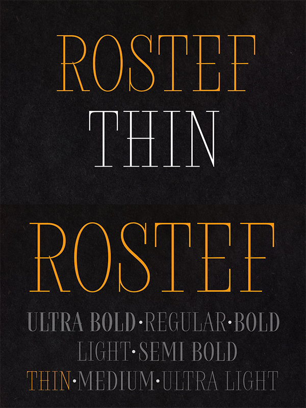 Rostef Thin Font Free Download