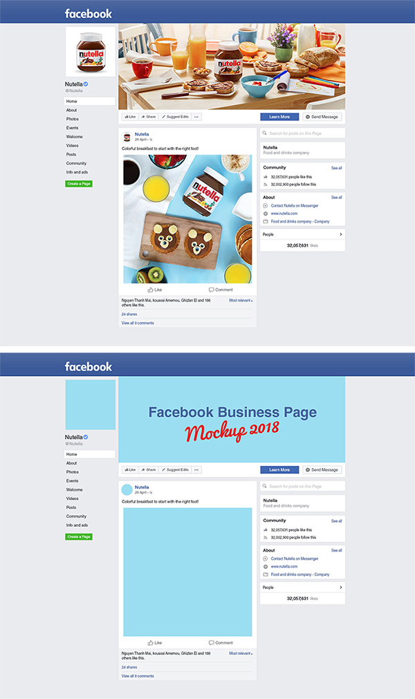 Awesome Facebook Business Page Mockup Free Download (PSD)