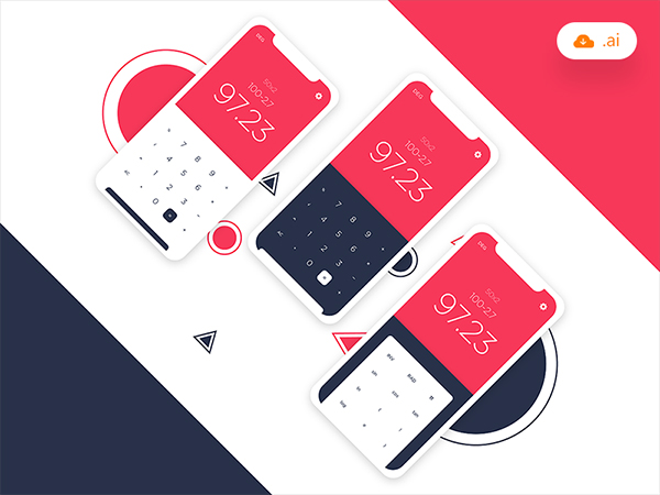 Freebie - Calculator UI Design
