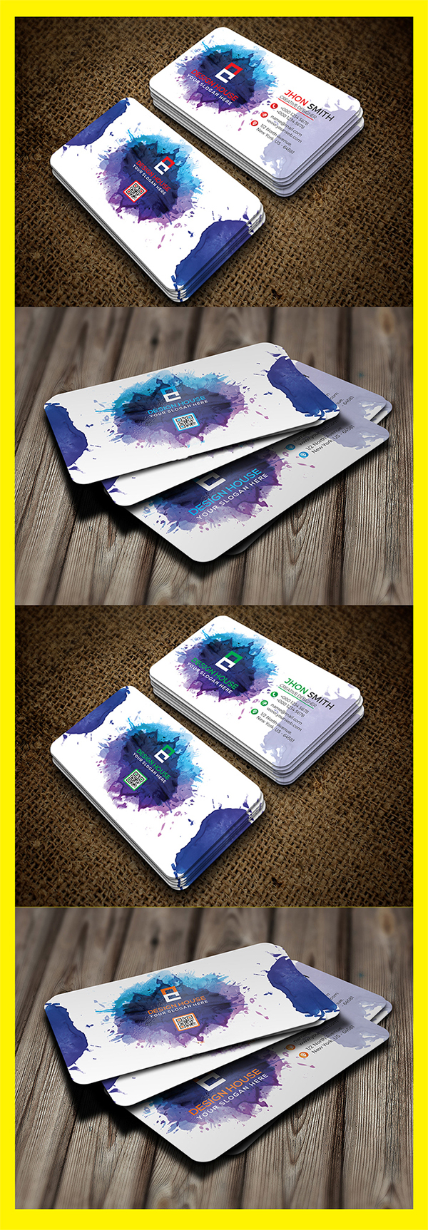 Freebie : Awesome Watercolor Business Card
