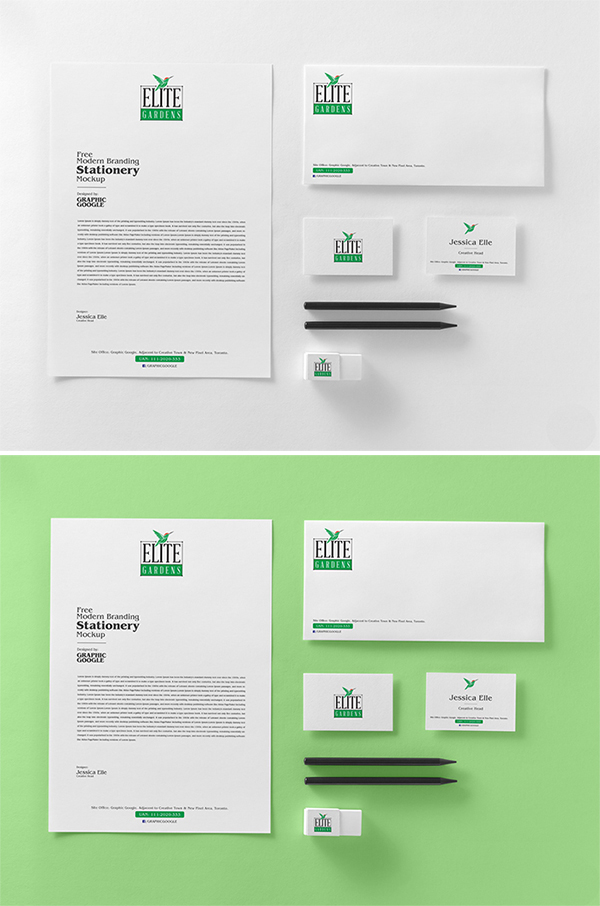 Elegant Stationery Mockup Free Download