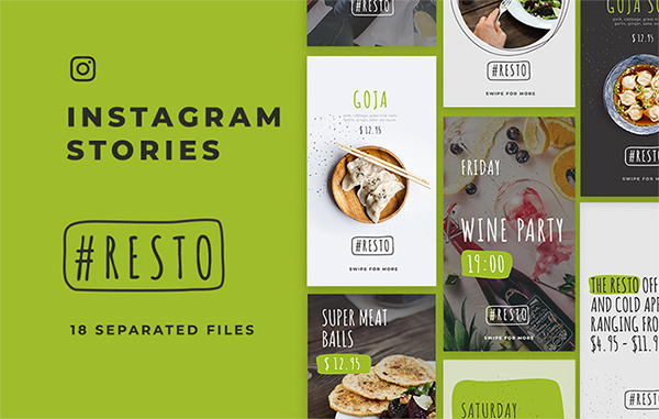 Awesome Instagram Stories Templates Free Download (PSD)