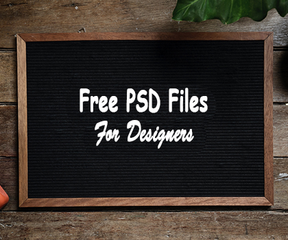 15 Latest Free PSD Files For Designers