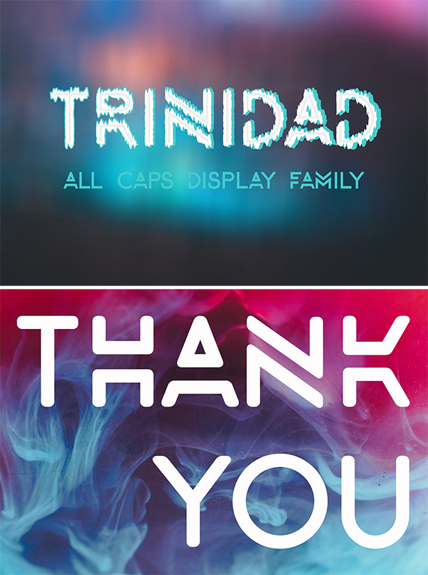 Trinidad All Caps Typeface
