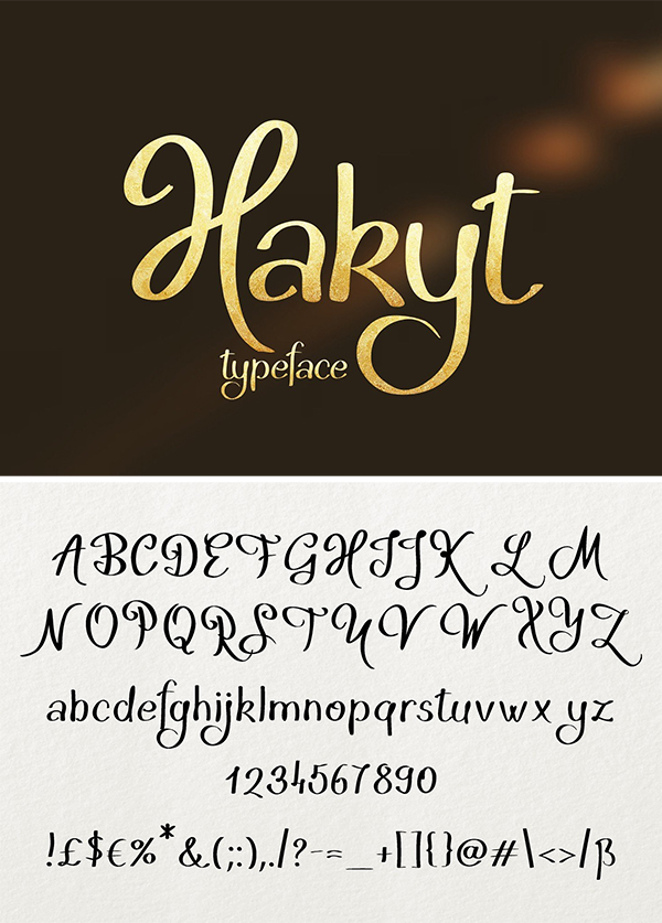 Hakyt Lettered Typeface