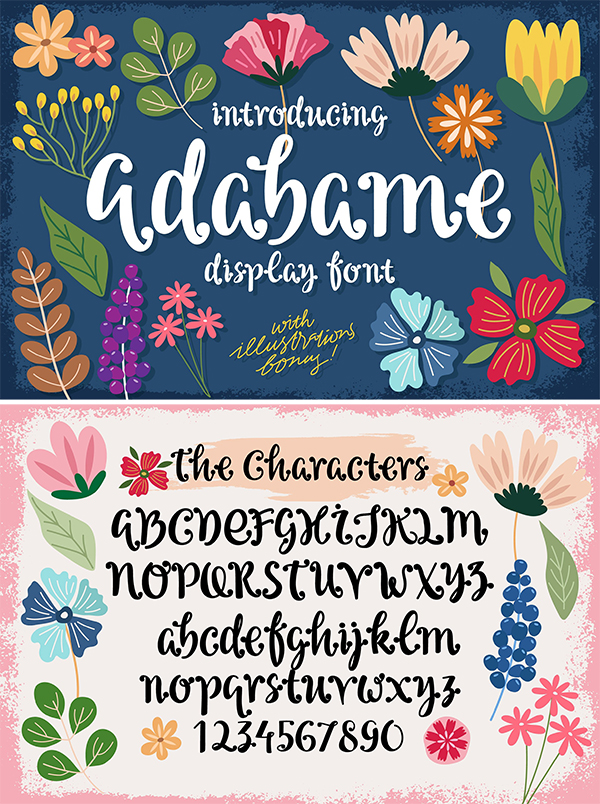 Adabame Display Font