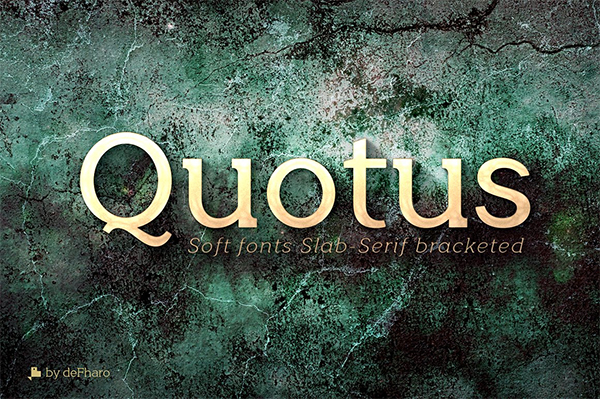 Quotus Slab Bracketed Font