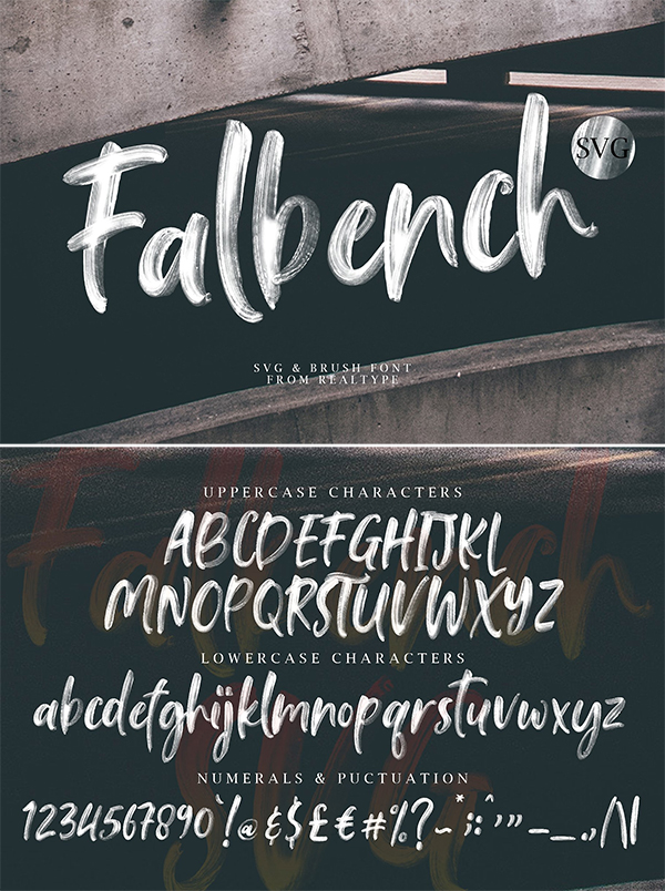 Falbench SVG & Brush Font