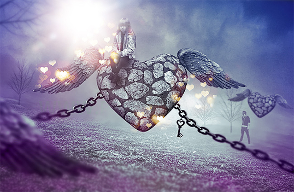 Valentine's Day Romantic Effect in Photoshop