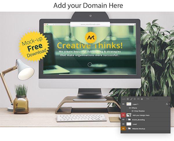 Free Web Browser Mockup Set | PSD