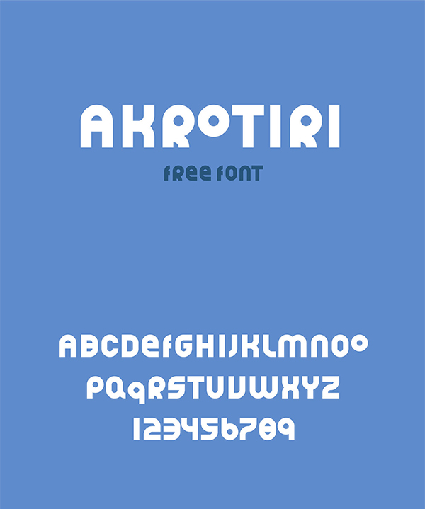 AKROTIRI Free Display Font